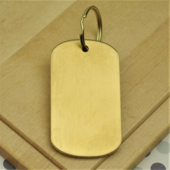 Thick Brass Engraved Tag Large