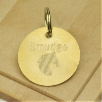 Horse Tack Bridle Saddle Tag Brass