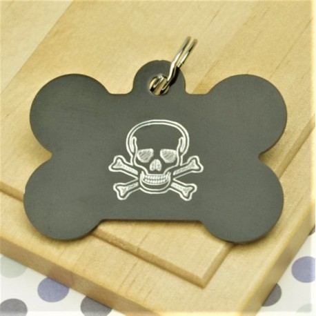 Skull Bone Pet ID Tag