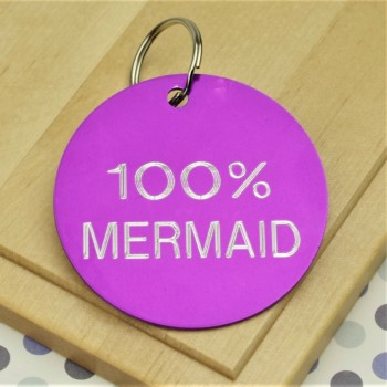 100% Mermaid Pet Tag