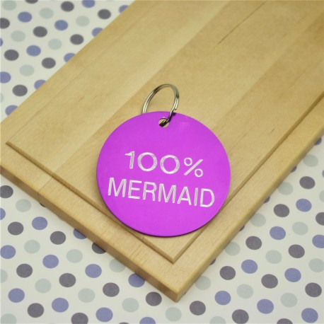 100% Mermaid Key Ring