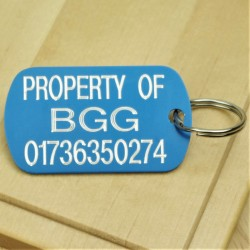 Property Of Engraved ID Tag