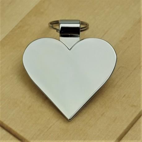 Silver Heart Dog ID Tag