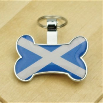 Scottish Saltire Flag Bone Dog ID
