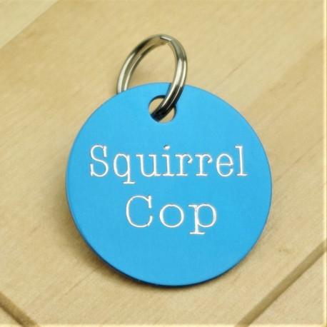 Squirrel Cop Pet ID Tag
