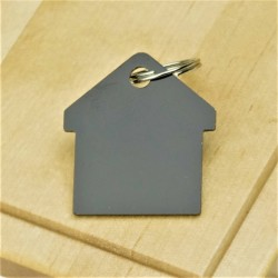 Black House Pet ID Tag Aluminium