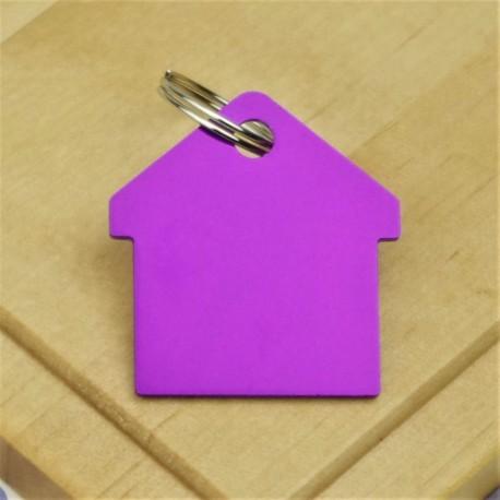 Purple House Pet ID Tag Aluminium