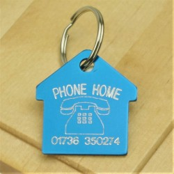 Phone Home House Pet ID Tag