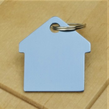 Sky Blue House Pet ID Tag Aluminium