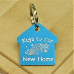 Keys to our New Home Personalised key Ring