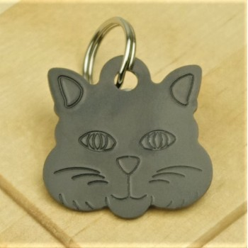 Cat Identity Tag Black