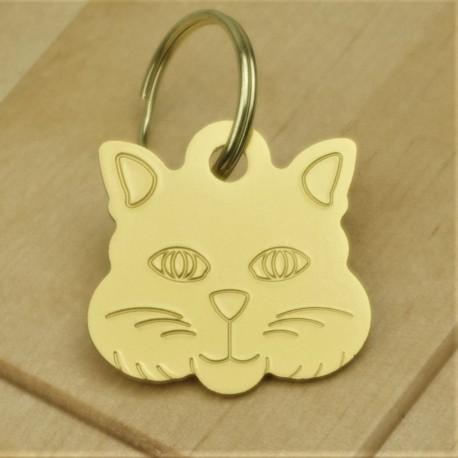 Cat Identity Tag Green