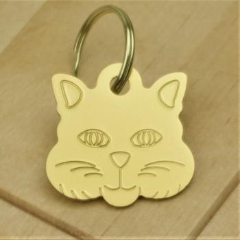 Cat Identity Tag Gold