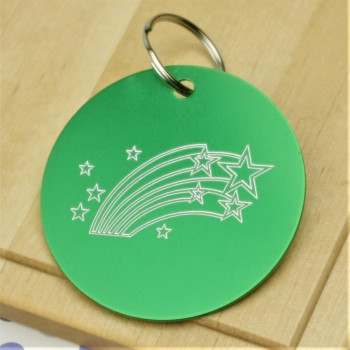 Star Burst Personalised Tag
