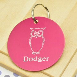 Wise Owl Personalised Tag