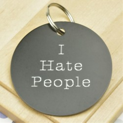 I Hate People Personalised Tag