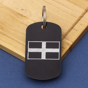 Cornwall Flag Engraved ID Tag