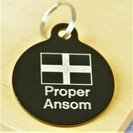 Proper Ansom Cornish Flag Pet Id Tag