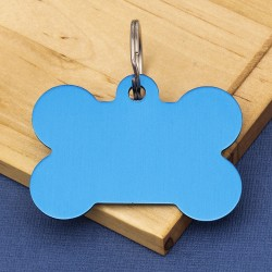 Aluminium Blue Bone Tag Teal