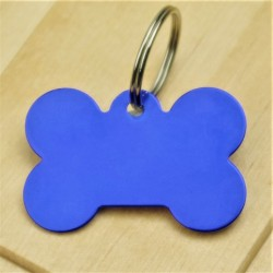 Aluminium Blue Bone Tag