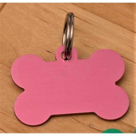 Light Pink Bone Dog ID Tag