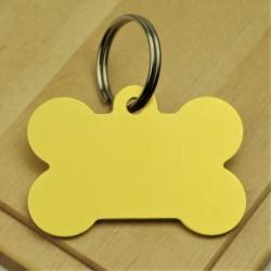 Gold Bone Dog ID Tag Aluminium