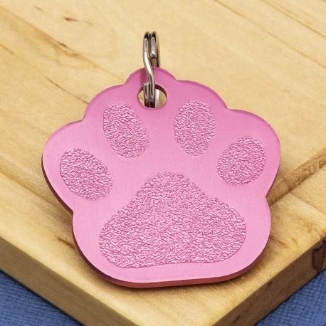 Pink Paw Dog ID Tag