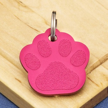 Red Paw Dog ID Tag Alu