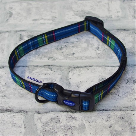 Blue Tartan Westie Collar - By Ancol