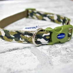 Camouflage Dog Collar Combat Green