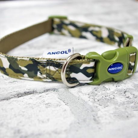 Camouflage Dog Collar Combat Green