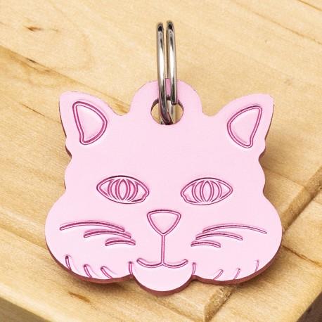 Cat Identity Tag Pink