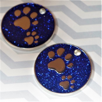 Sparkly Paws Pet Id Tag Blue