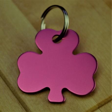 Shamrock Dog Id Tag Pink