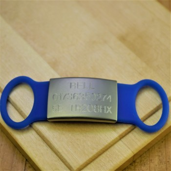 Silent Silicone Pet Tag Blue