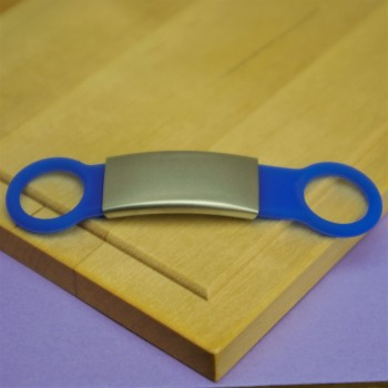 Silent Silicone Pet Tag Blue Small