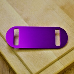 Medium Agility Pet Id Tag Purple Aluminium