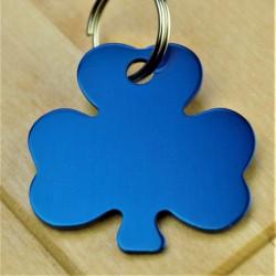 Shamrock Dog Id Tag Blue