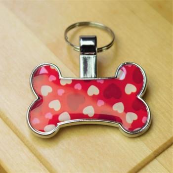 Love Heart Bone Pet Tag
