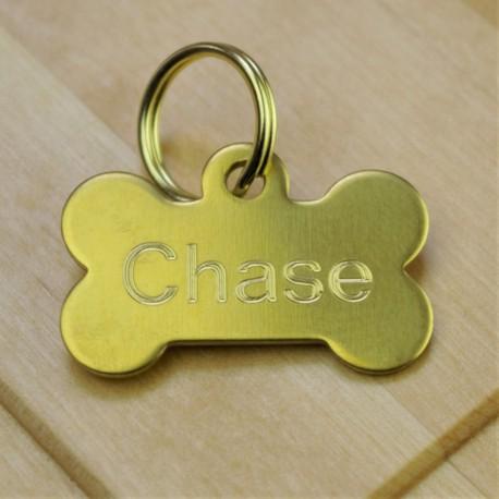 Brass Pet Id Tag Small