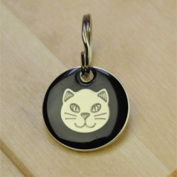 Black Cat ID Tag