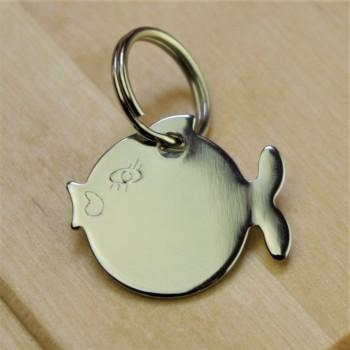 Silver Fish Cat ID Tag