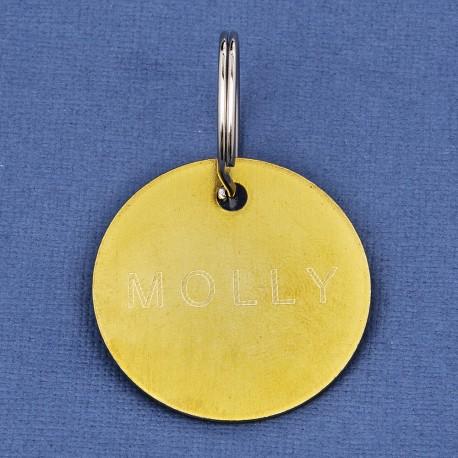 25 mm Brass Pet Id Tag