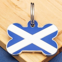 This months trending Scottish flag pet tag www.petidtagsexpress.co.uk #scottish #saltire #scotland #scottishflagpettag #pettag #pettags #petidtag #petidtags #dogtags #dogtag