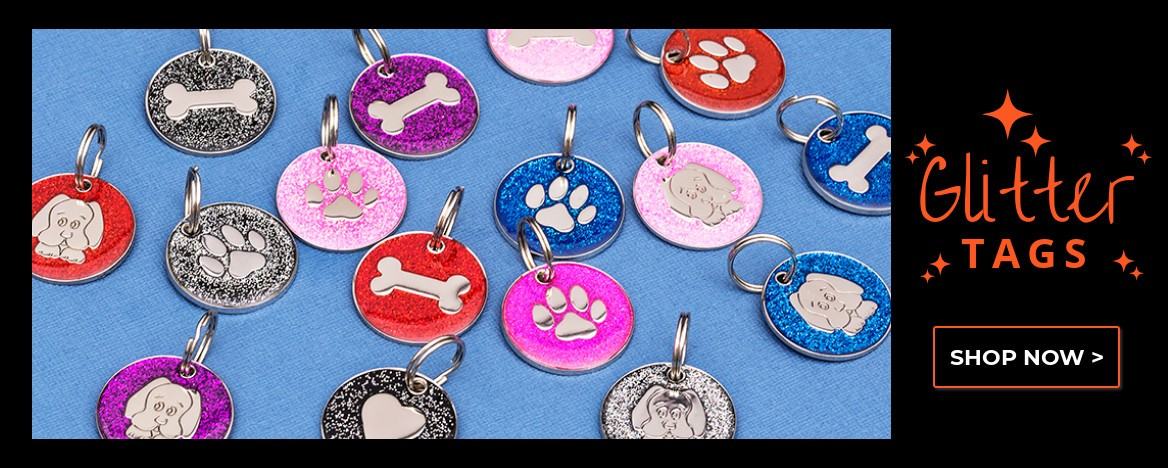 Glitter Pet Id Tags
