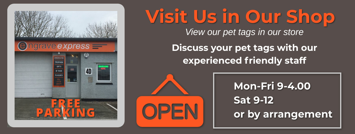 Visit us at Pet Tag IDs shop